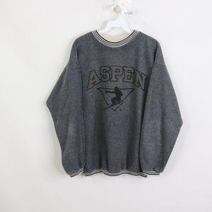 90s Mens Large Aspen Colorado Crewneck Sweatshirt